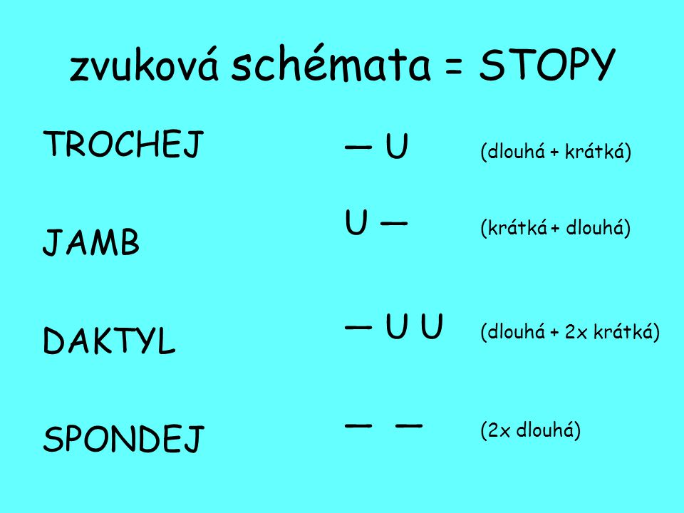zvuková schémata = STOPY