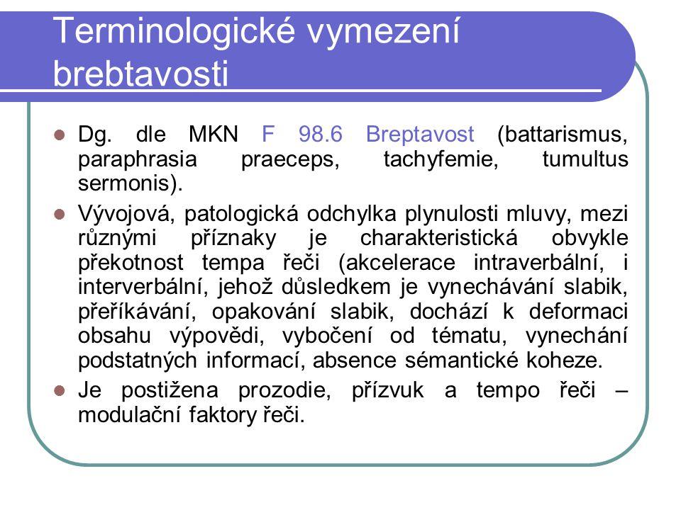 Terminologické vymezení brebtavosti