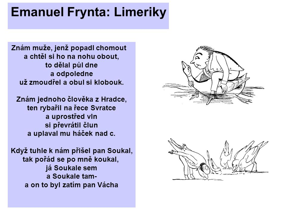 Emanuel Frynta: Limeriky
