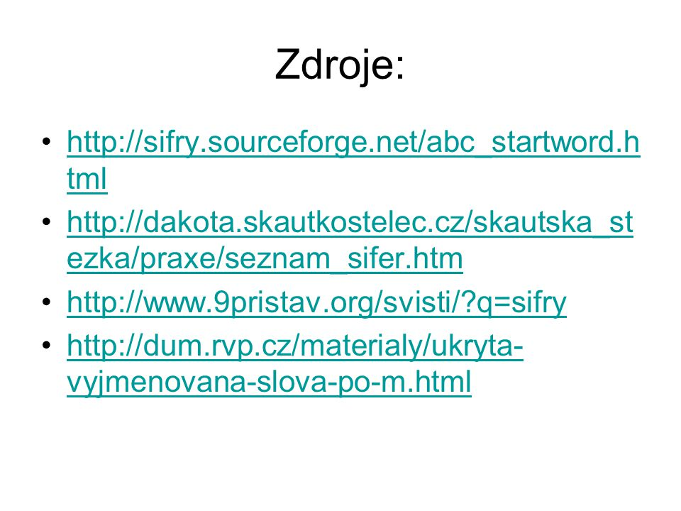 Zdroje: http://sifry.sourceforge.net/abc_startword.html