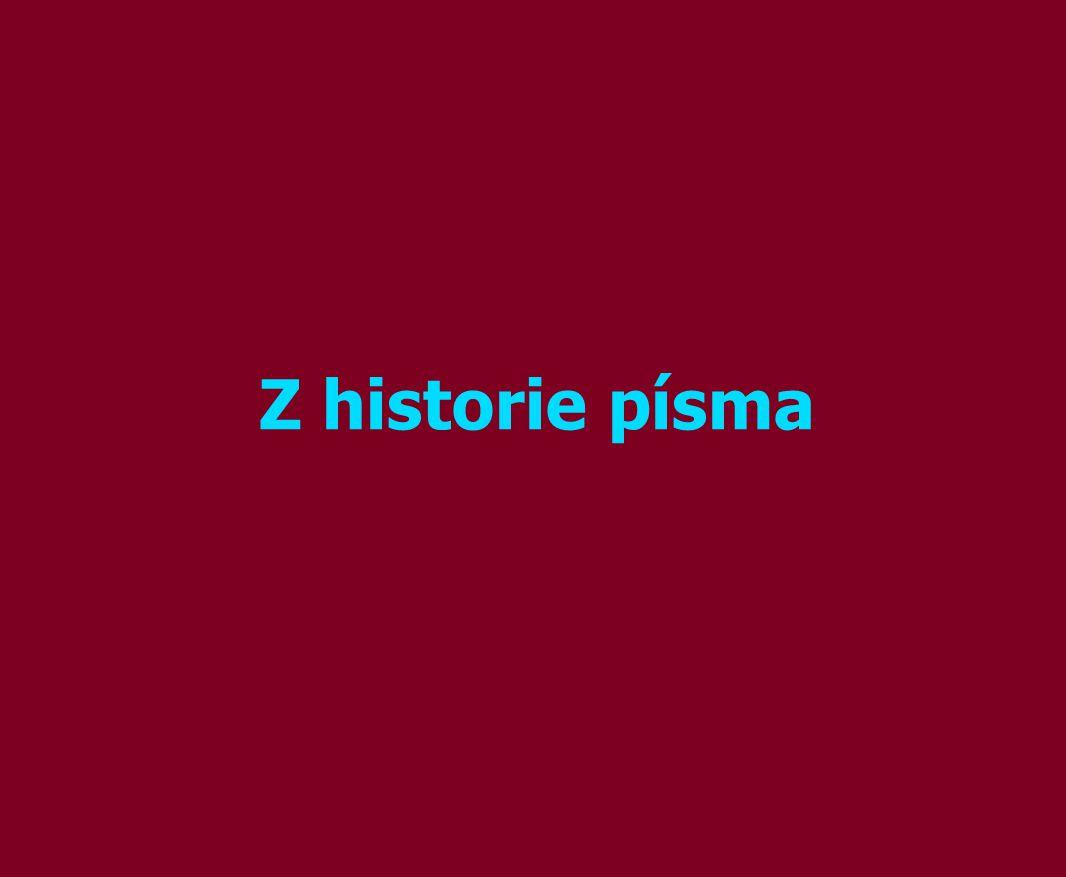 Z historie písma