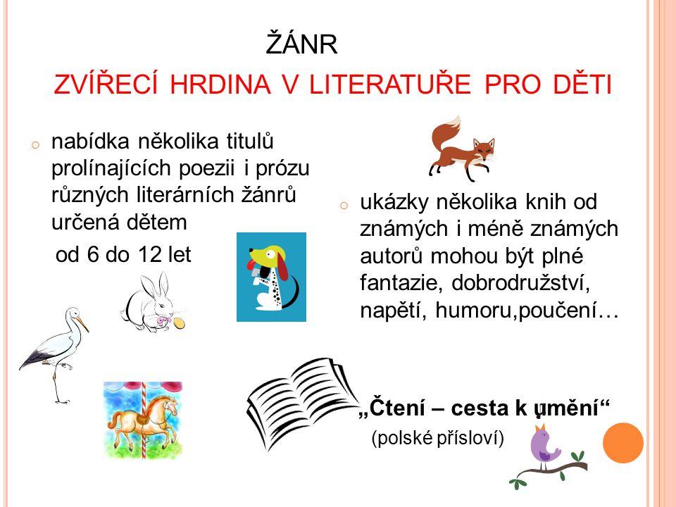 žánr zvířecí hrdina v literatuře pro děti