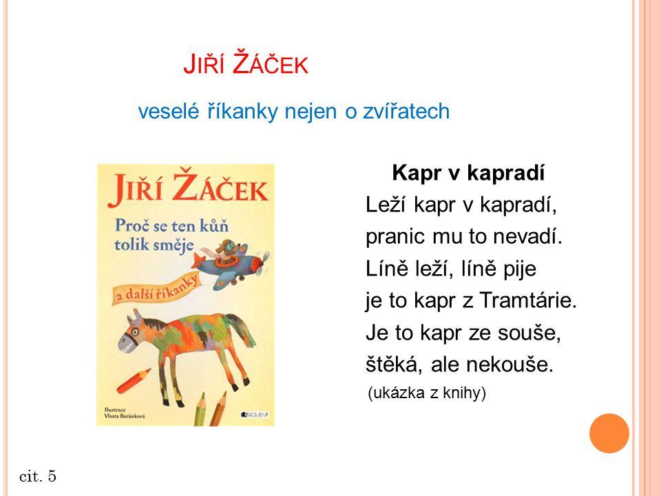Jiří Žáček veselé říkanky nejen o zvířatech Kapr v kapradí