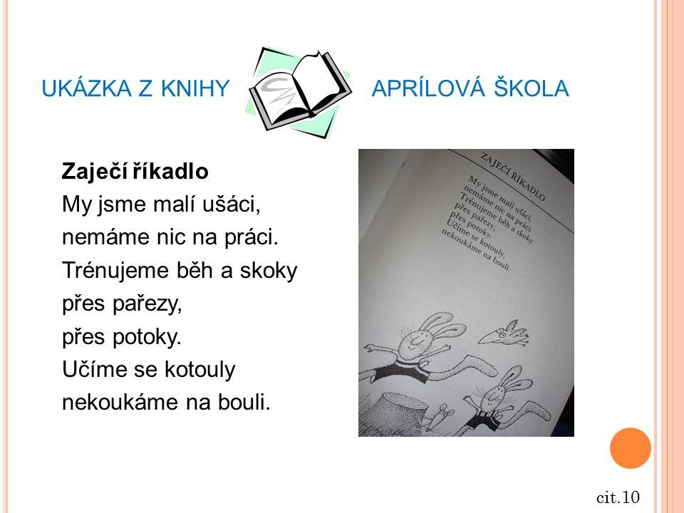 ukázka z knihy aprílová škola