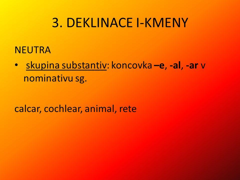 3. DEKLINACE I-KMENY NEUTRA