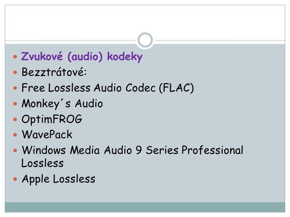 Zvukové (audio) kodeky