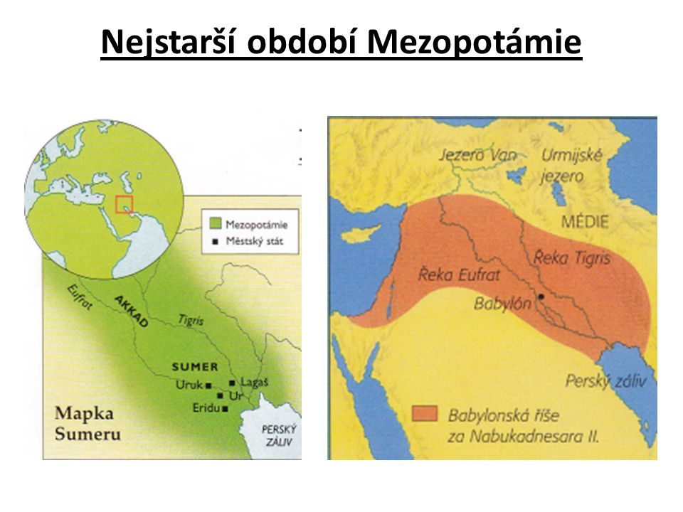 Nejstarší období Mezopotámie