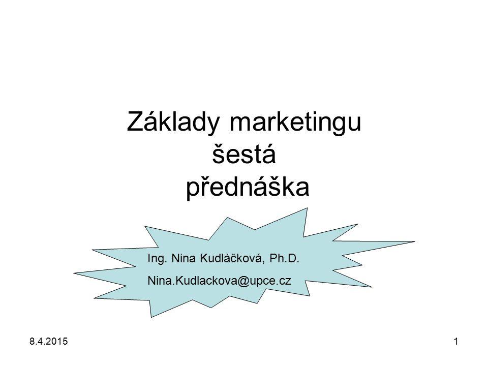 Základy marketingu šestá přednáška