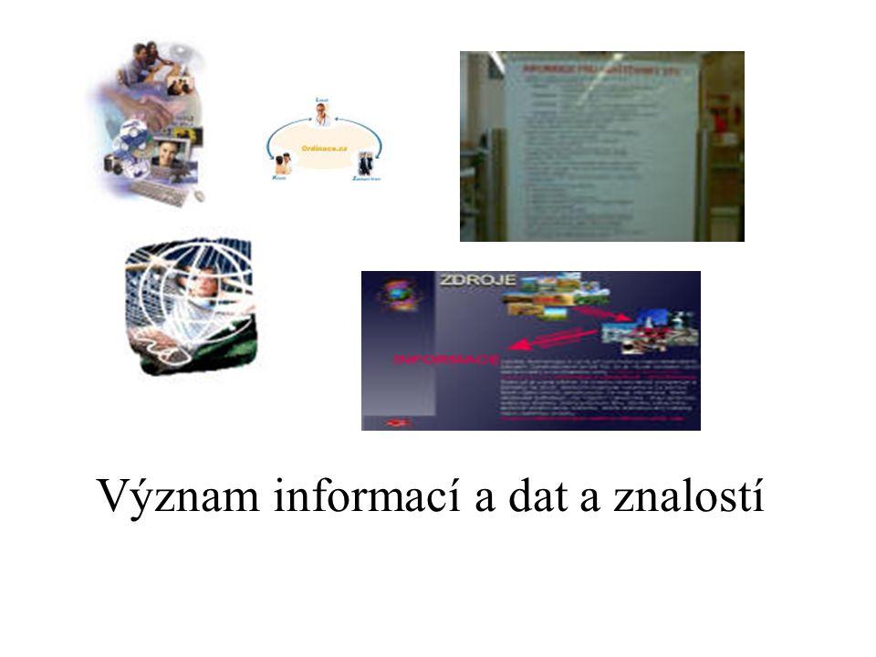 Význam informací a dat a znalostí
