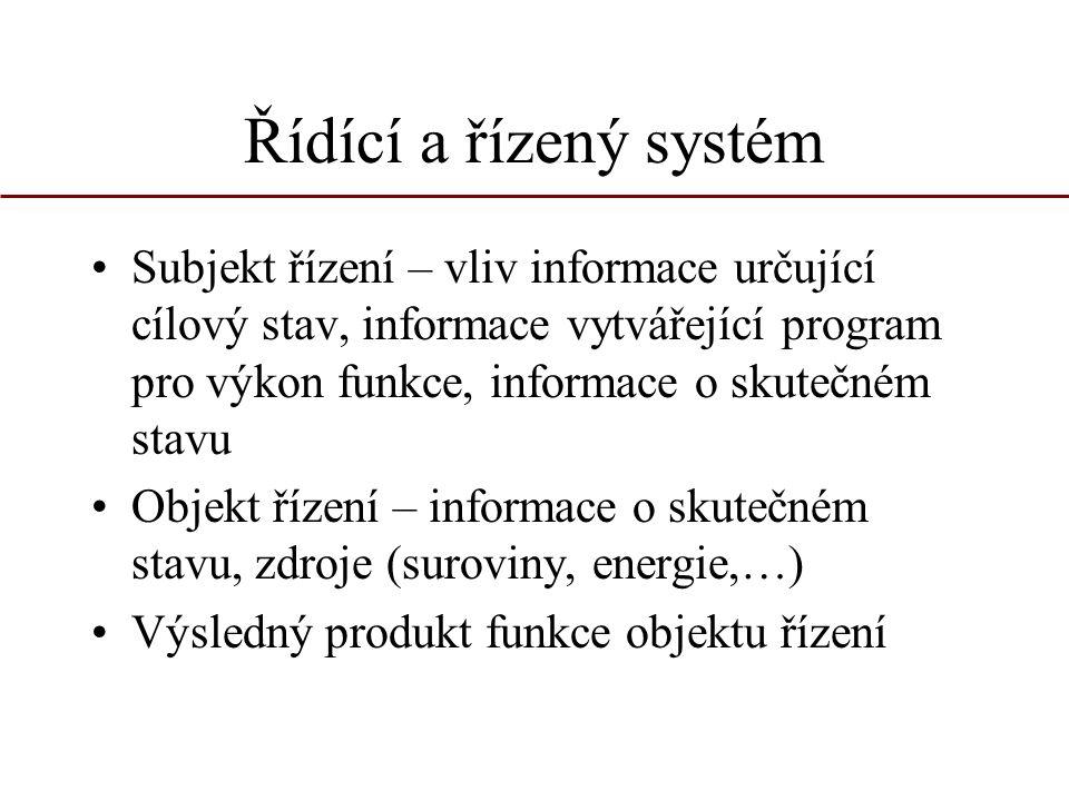 Řídící a řízený systém
