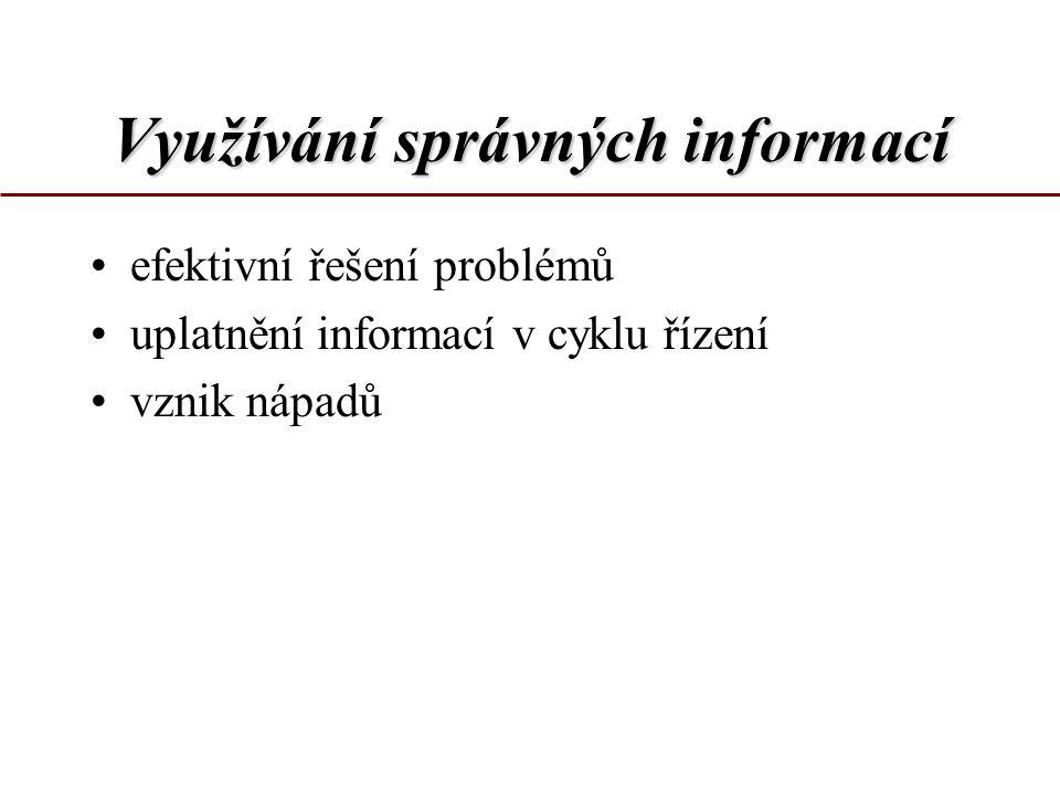 Využívání správných informací