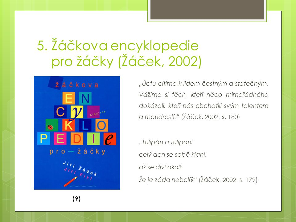 5. Žáčkova encyklopedie pro žáčky (Žáček, 2002)