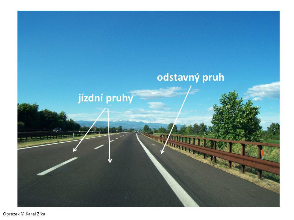 odstavný pruh jízdní pruhy Obrázek © Karel Zíka