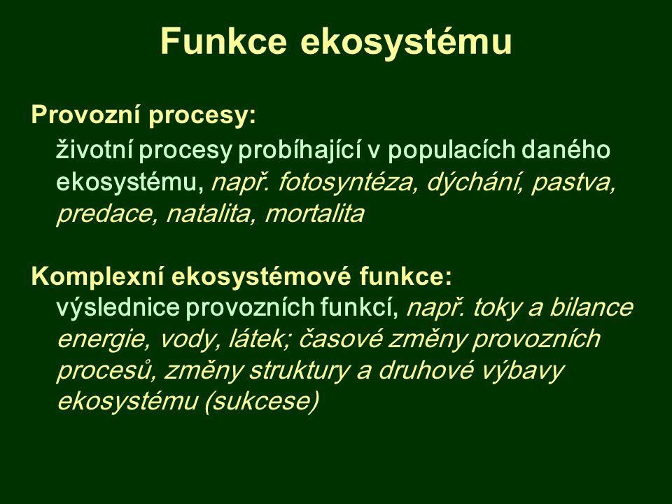 Funkce ekosystému Provozní procesy: