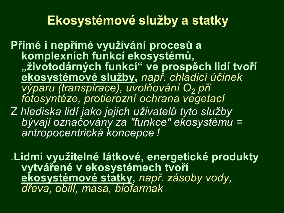 Ekosystémové služby a statky