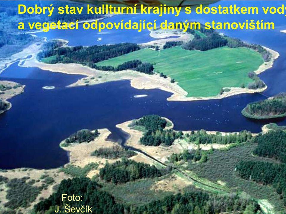 Dobrý stav kullturní krajiny s dostatkem vody a vegetací odpovídající daným stanovištím