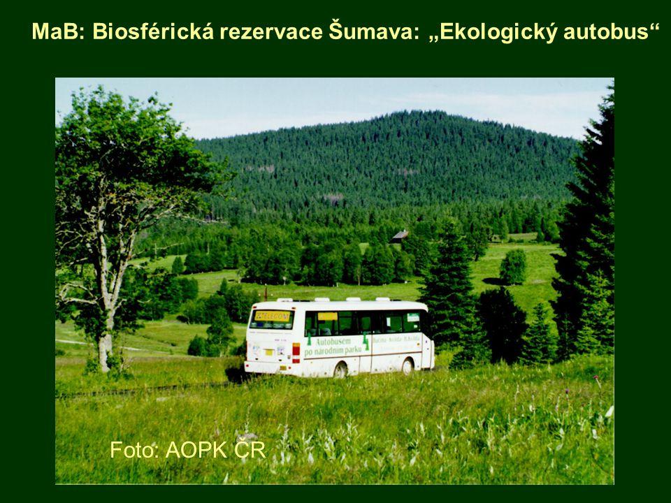 """MaB: Biosférická rezervace Šumava: """"Ekologický autobus"""