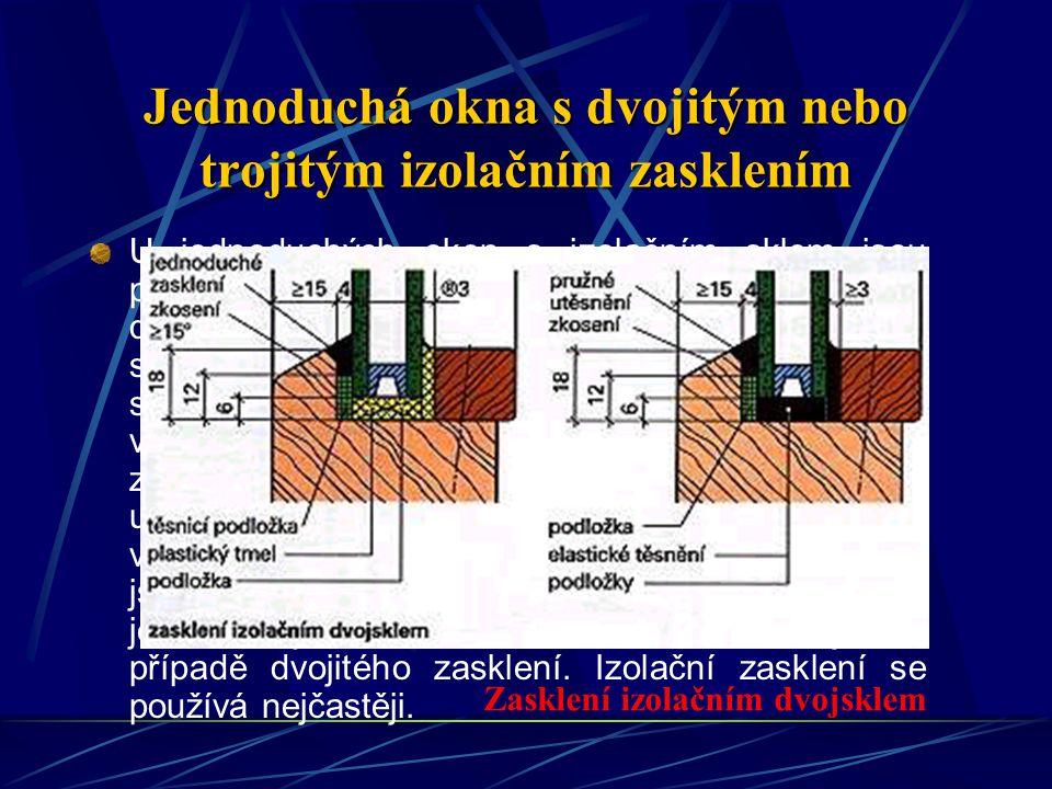 Jednoduchá okna s dvojitým nebo trojitým izolačním zasklením