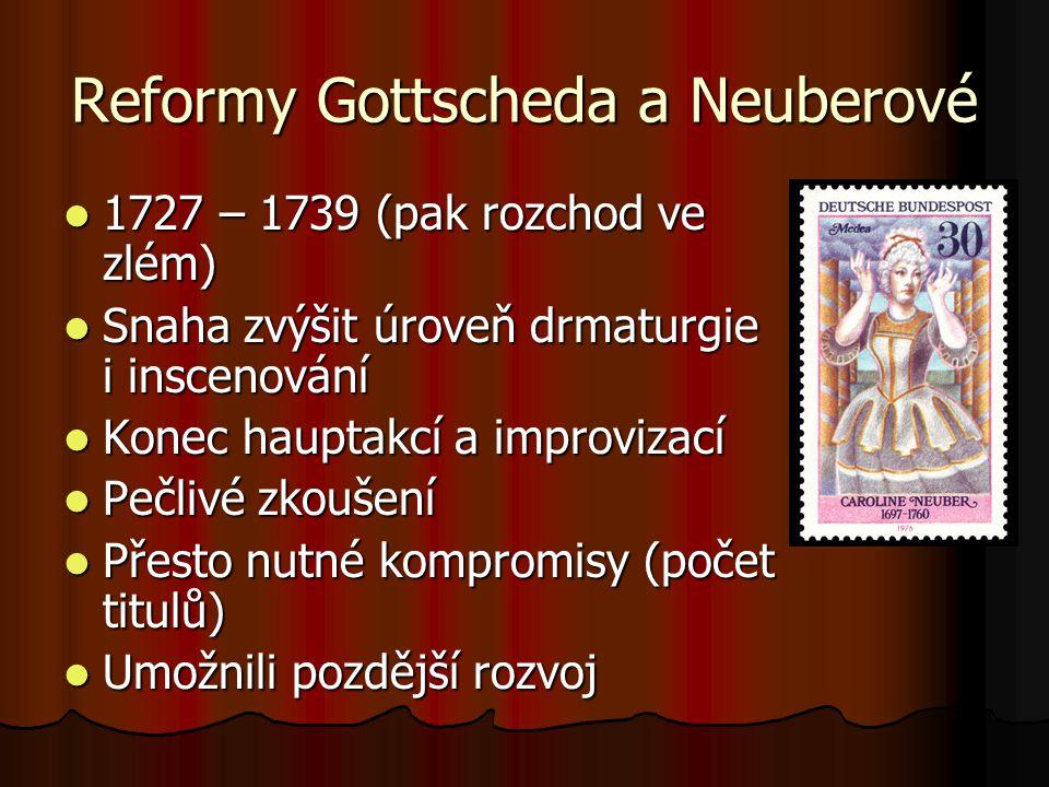 Reformy Gottscheda a Neuberové