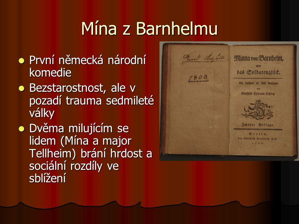 Mína z Barnhelmu První německá národní komedie