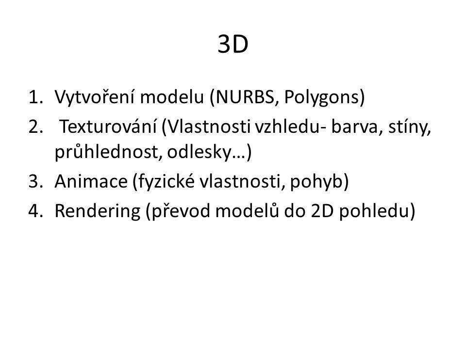 3D Vytvoření modelu (NURBS, Polygons)