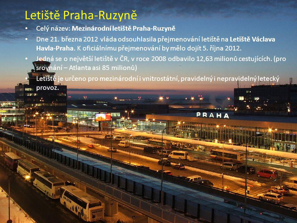 Letiště Praha-Ruzyně Celý název: Mezinárodní letiště Praha-Ruzyně