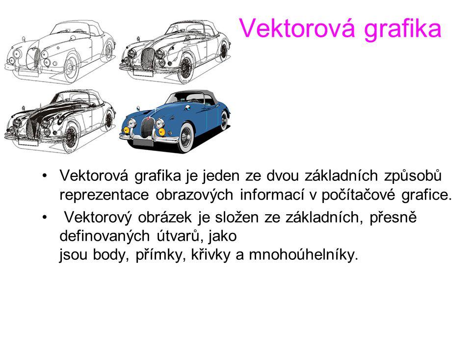 Vektorová grafika Vektorová grafika je jeden ze dvou základních způsobů reprezentace obrazových informací v počítačové grafice.