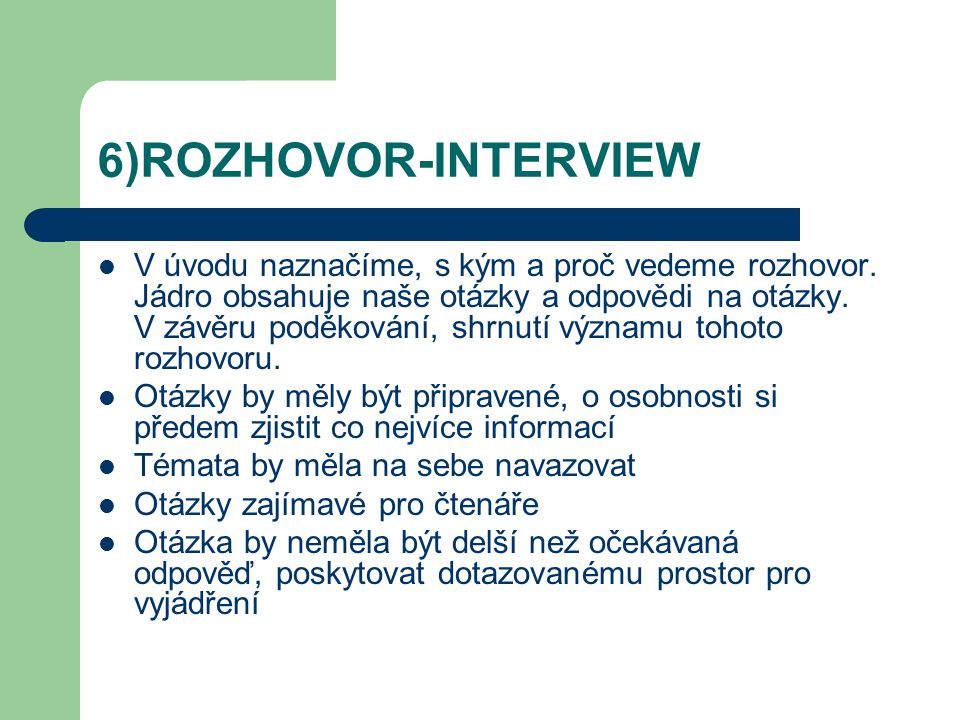 6)ROZHOVOR-INTERVIEW