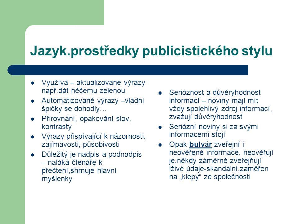 Jazyk.prostředky publicistického stylu