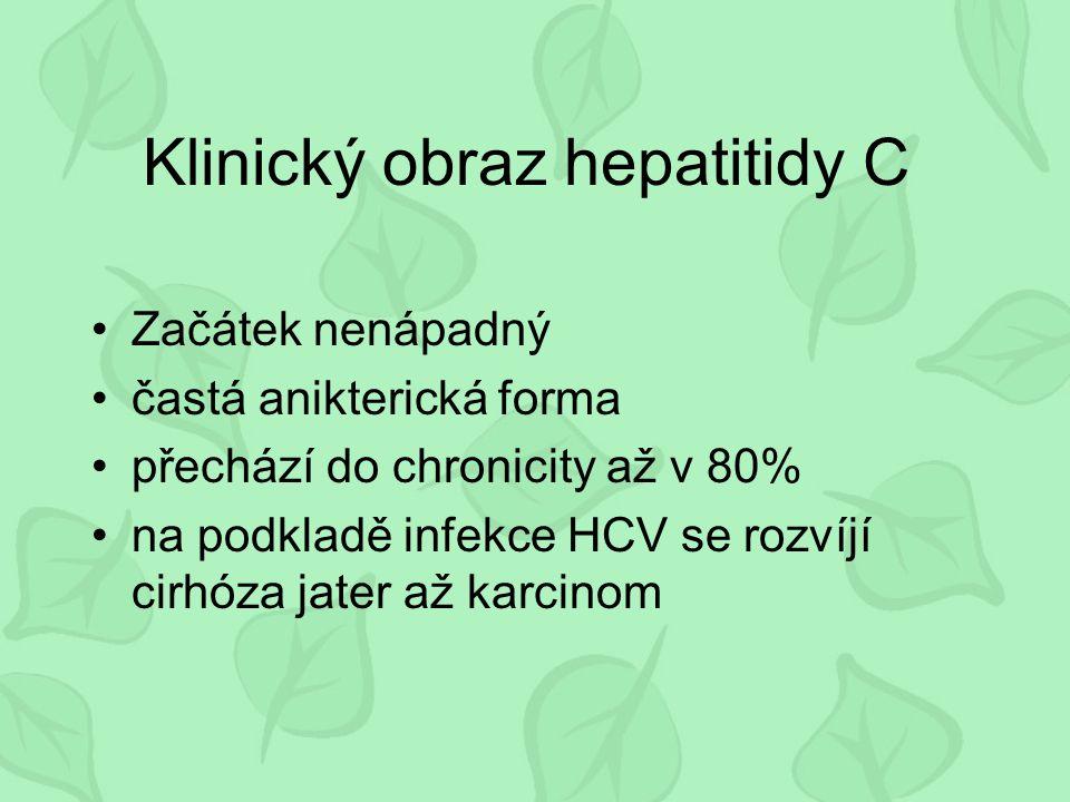 Klinický obraz hepatitidy C