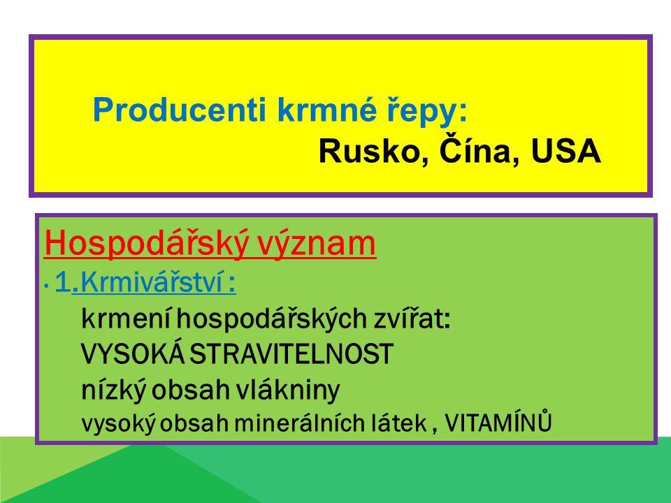 Producenti krmné řepy: