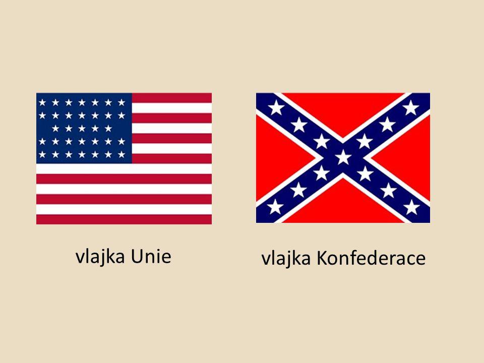 vlajka Unie vlajka Konfederace
