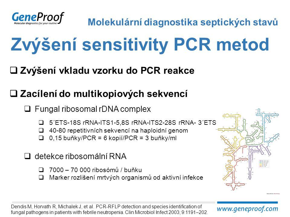 Zvýšení sensitivity PCR metod