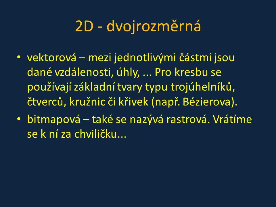 2D - dvojrozměrná