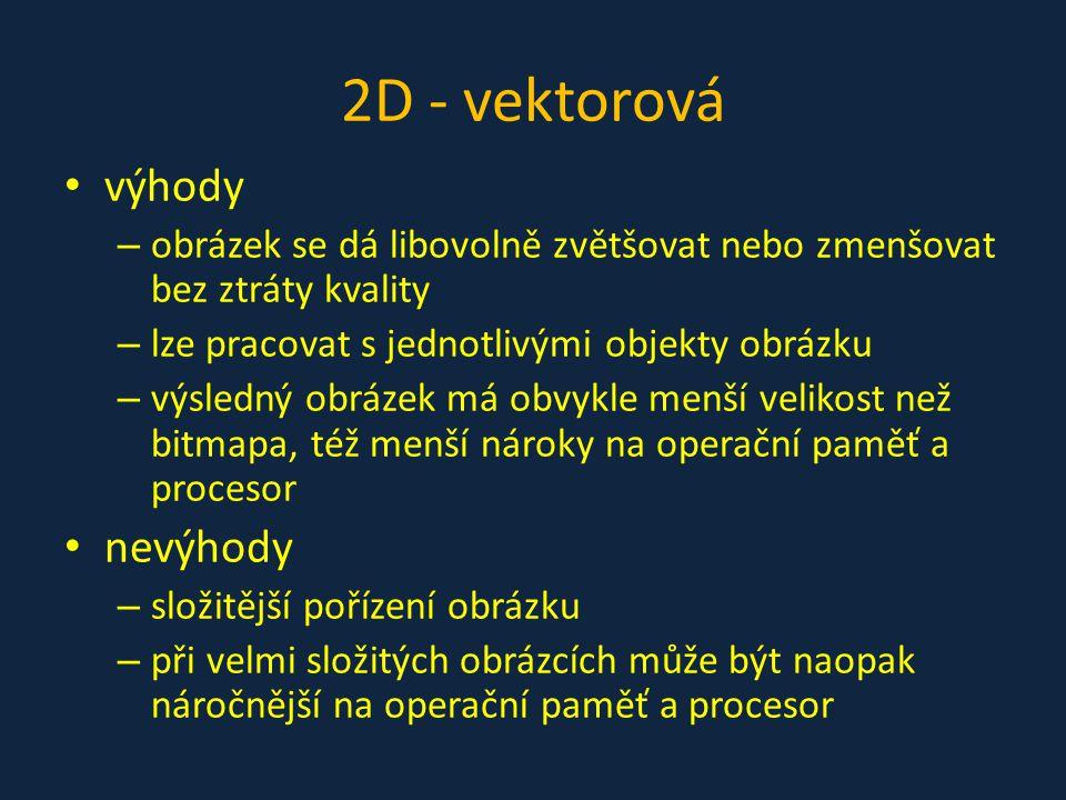 2D - vektorová výhody nevýhody
