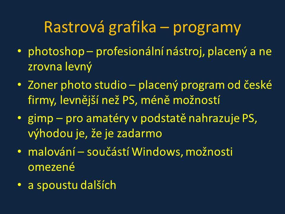 Rastrová grafika – programy