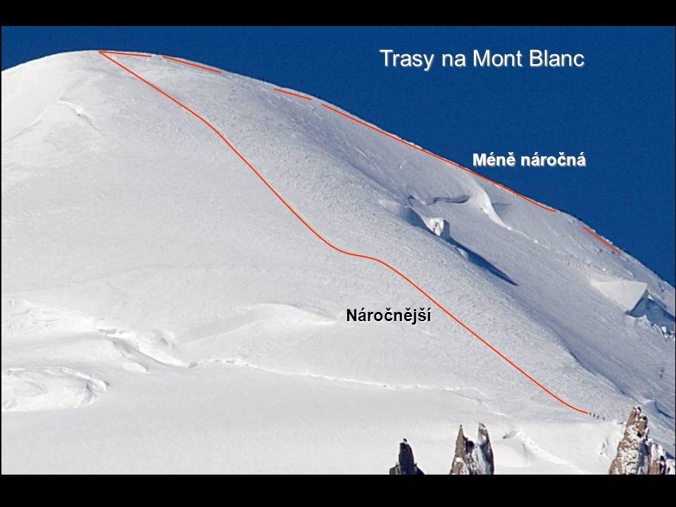 Trasy na Mont Blanc Méně náročná Náročnější