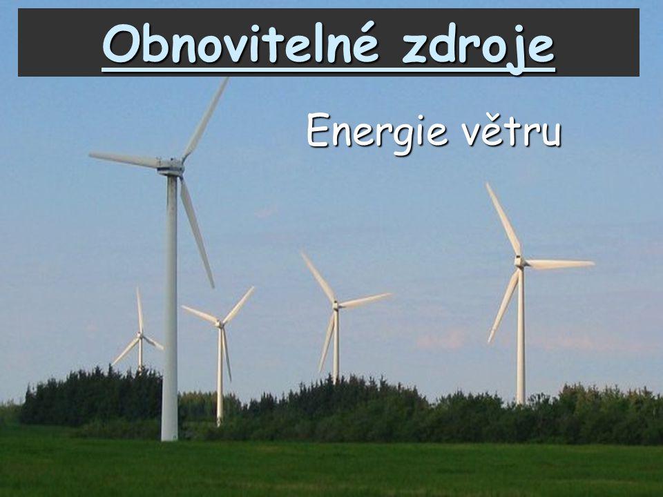 Obnovitelné zdroje Energie větru