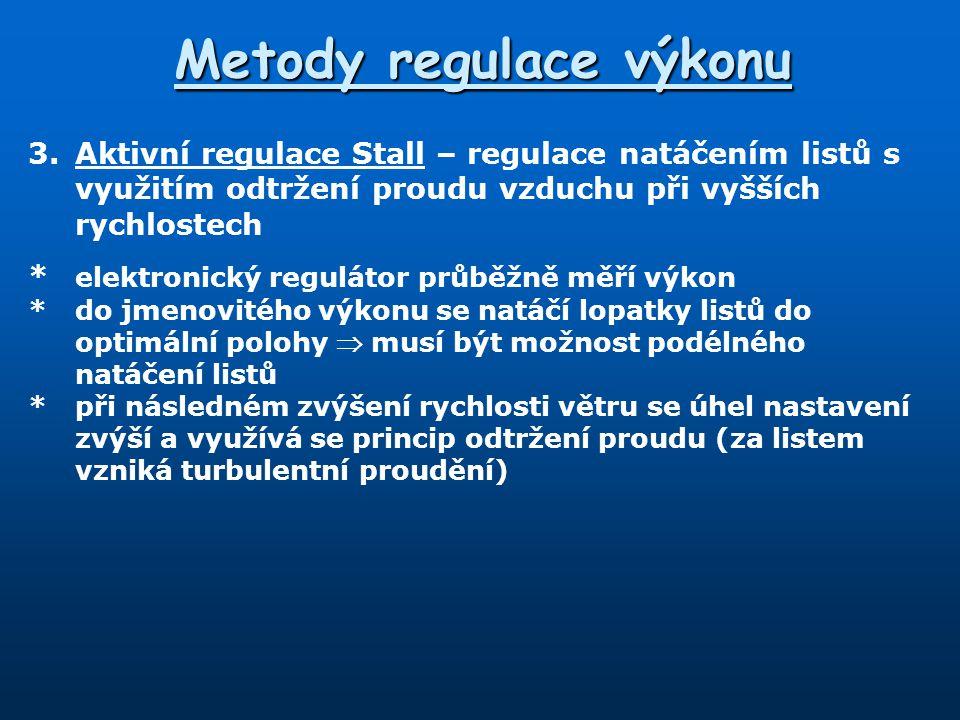 Metody regulace výkonu