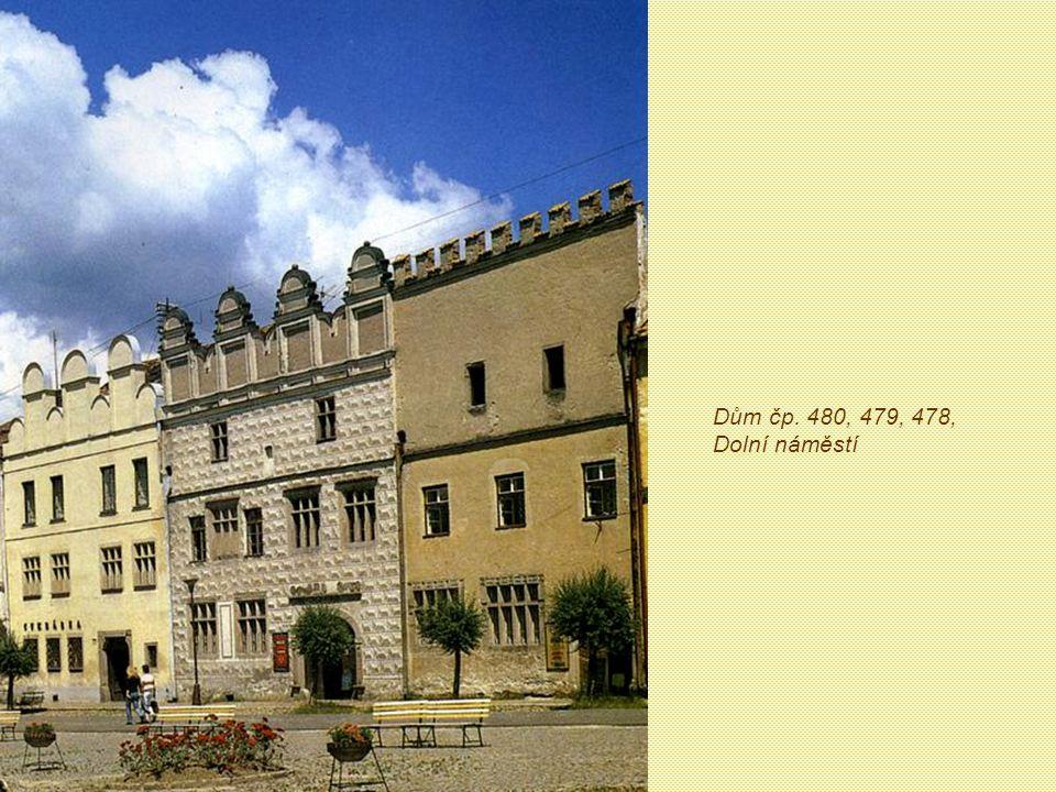 Dům čp. 480, 479, 478, Dolní náměstí