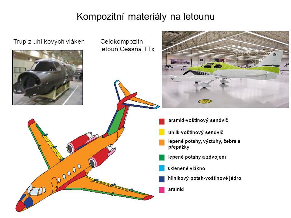 Kompozitní materiály na letounu