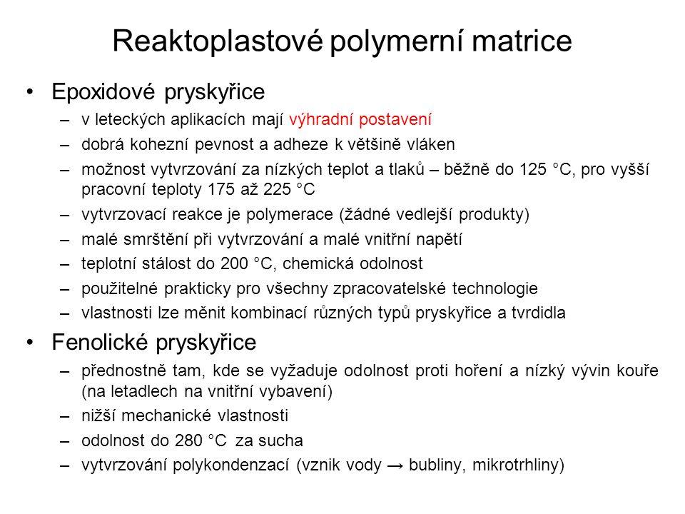 Reaktoplastové polymerní matrice