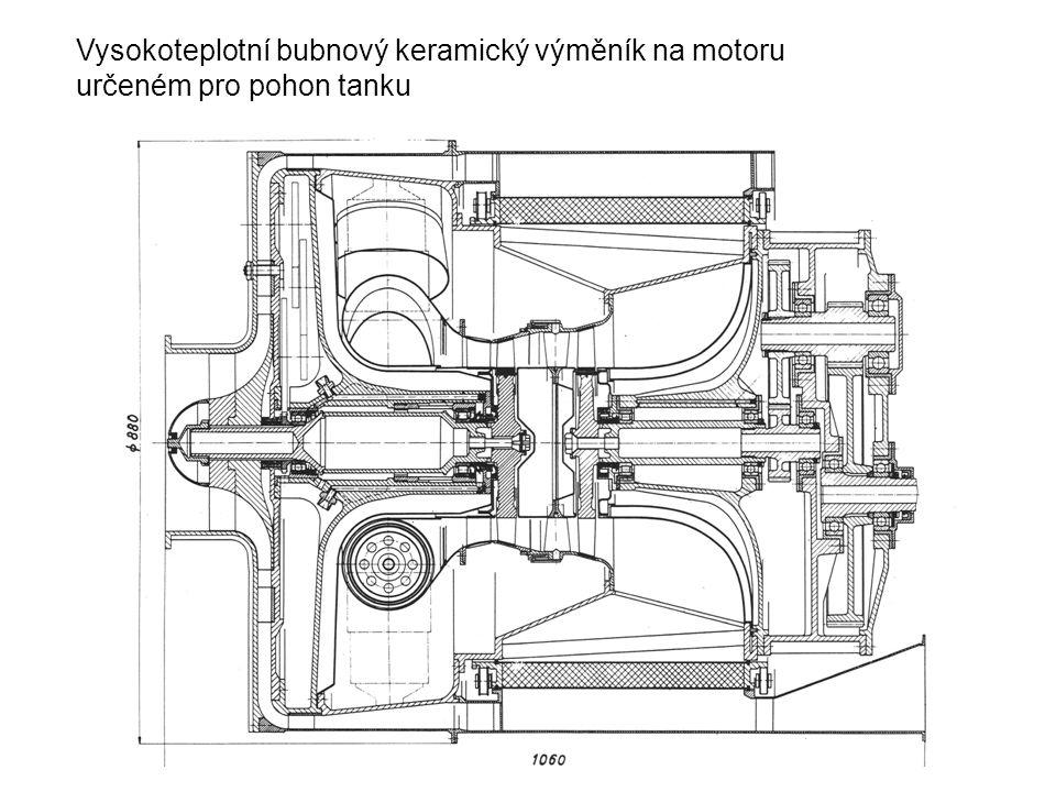Vysokoteplotní bubnový keramický výměník na motoru