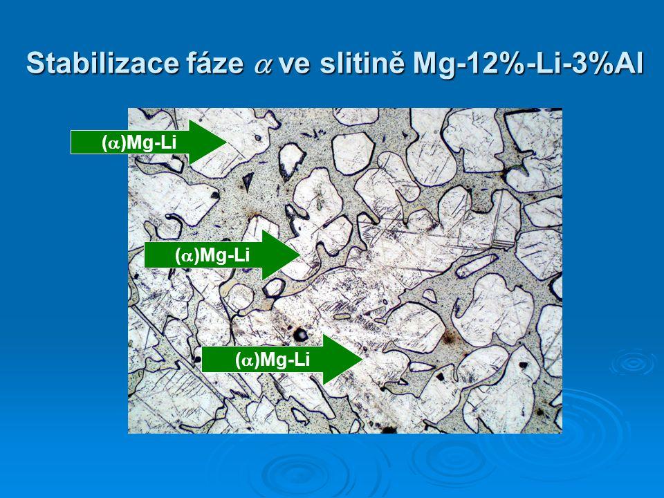 Stabilizace fáze  ve slitině Mg-12%-Li-3%Al