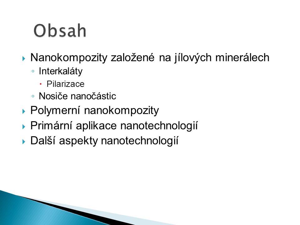 Obsah Nanokompozity založené na jílových minerálech