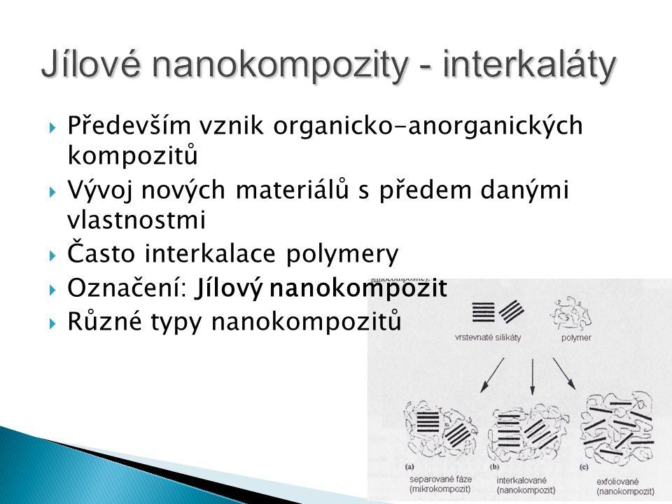 Jílové nanokompozity - interkaláty