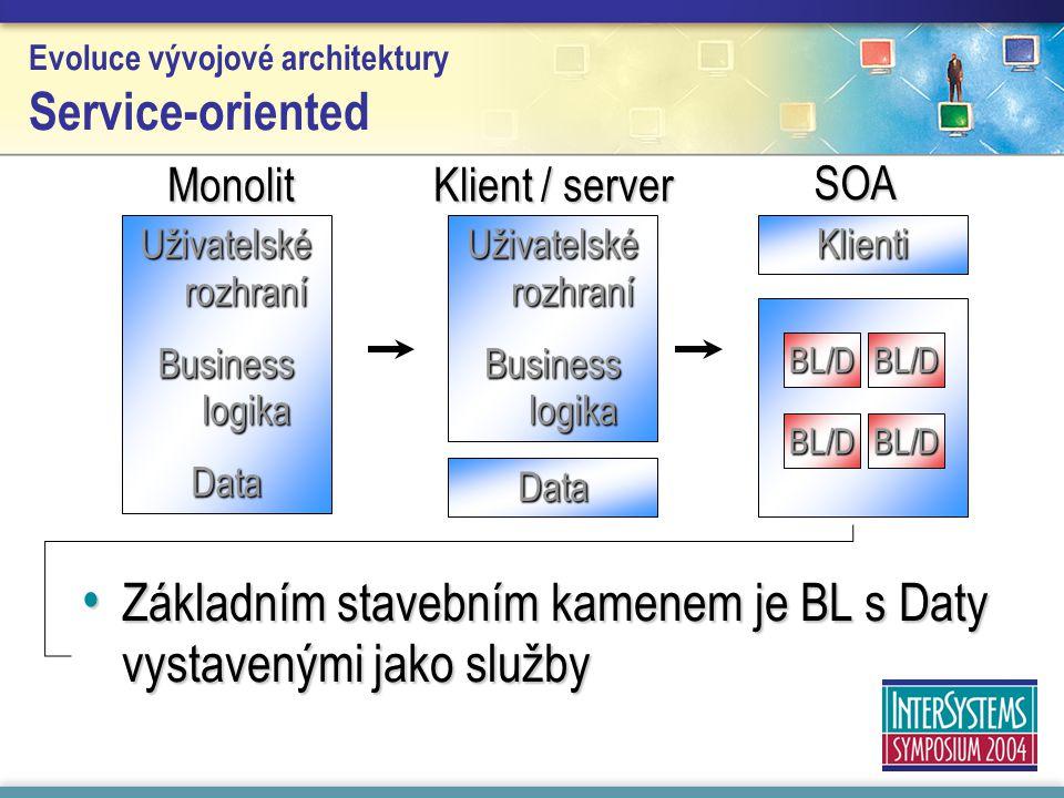 Evoluce vývojové architektury Service-oriented