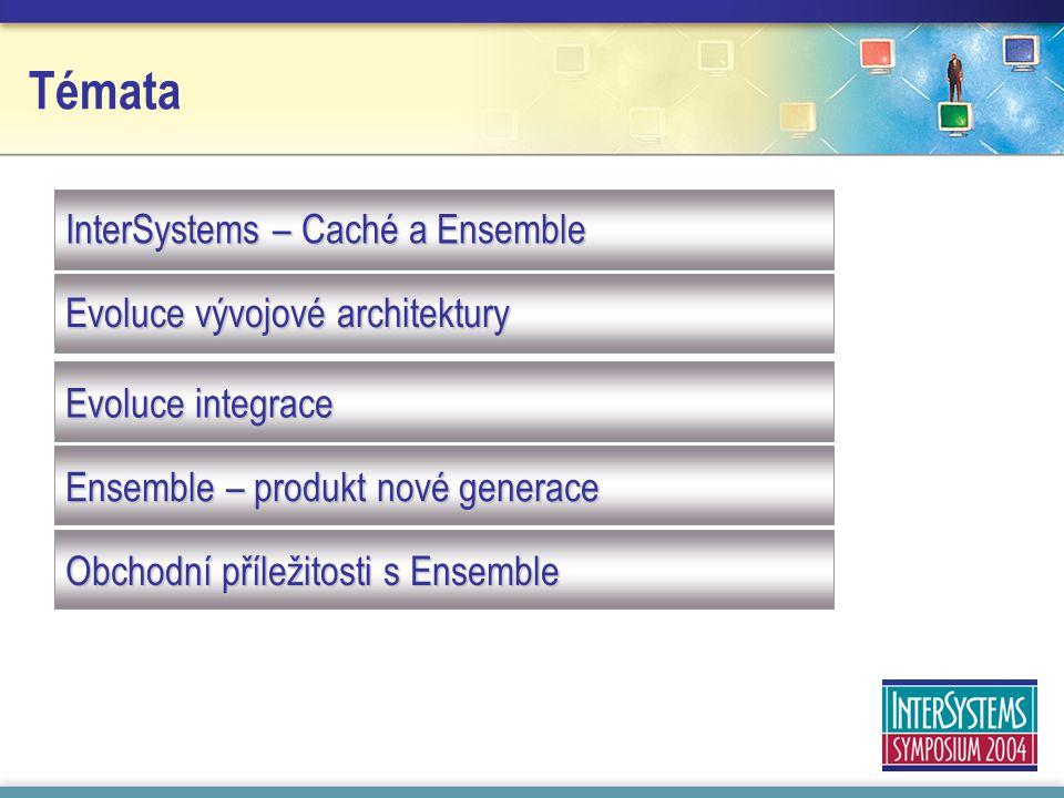 Témata InterSystems – Caché a Ensemble Evoluce vývojové architektury