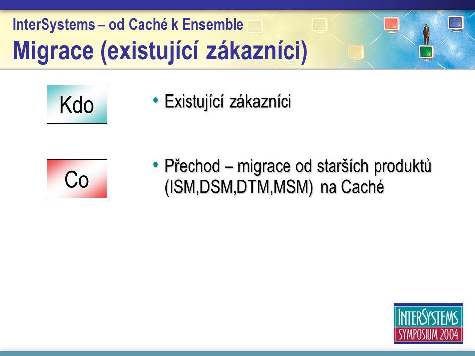 InterSystems – od Caché k Ensemble Migrace (existující zákazníci)