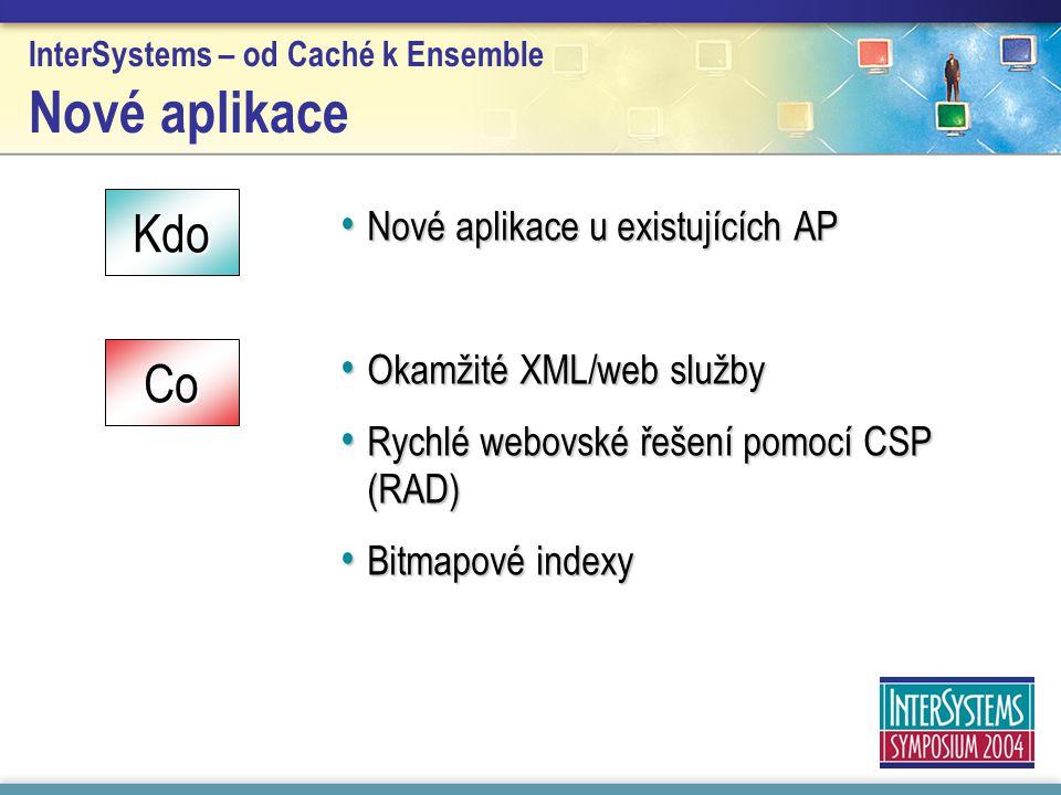 InterSystems – od Caché k Ensemble Nové aplikace